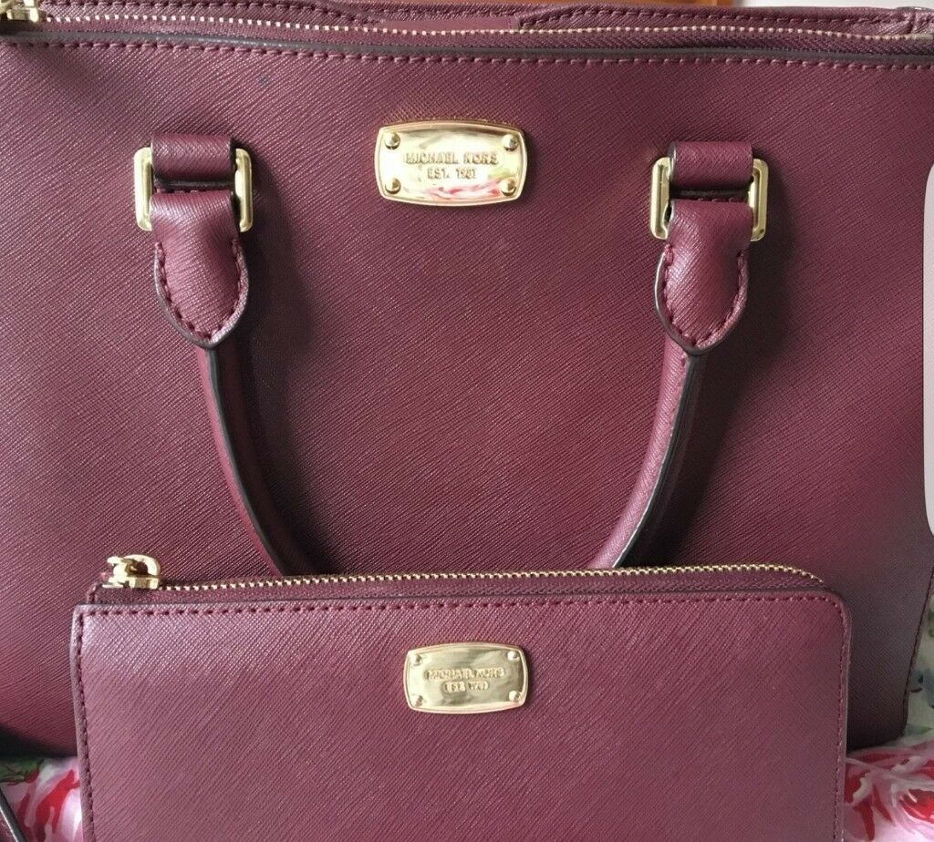 Genuine Michael Kors Bag Purse Burgundy Open To Offers