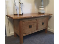 Coffee / Console Table – solid oak, hand made – excellent condition, no scratches/ marks – only £85