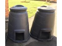 Compost bins with lids - **FREE!**
