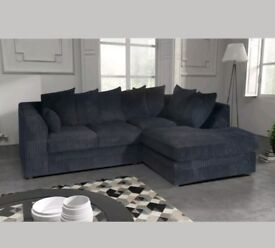 Black corner sofa, used but great condition.