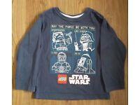 Star Wars Long Sleeved T-shirt Tesco 4-5 years