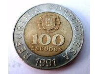 100 Escudos Coin – 1990, 1991, 1992 Portugal Rare & Collectable