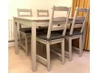 Ikea JOKKMOKK dining table and chairs set (grey)