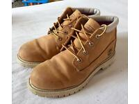 Timberland Earthkeepers Double Waterproof Nellie Chukka Boots Tan Womens Size 8