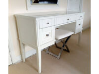 Solid Wood dressing table, mirror and stool; Hammonds furniture, immaculate