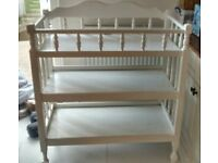 Wooden white baby change unit