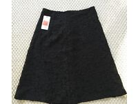 Black lace black skirt from Zara - Size 10. Brand new with tags