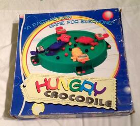HUNGRY CROCODILE GAME FROM LI-LO LEISURE PRODUCTS. LIKE HUNGRY HIPPOS. COMPLETE.