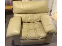Free leather armchair / sofa - very comfy!