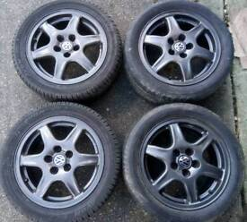 """VW BBS SOLITUDE ALLOY WHEELS IN ANTHRACITE GREY (15"""" 5X100)"""