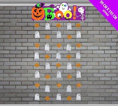 Decoración para Halloween Colgante Cortina Puerta Boo! Fantasma &
