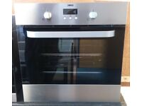 Zanussi ZOB353X A Class Fan Assisted Single Electric Built In Oven In Black / Stainless Steel