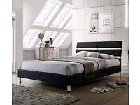 Double Bed 4ft6 fabric choice of 4 colours