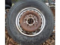 Spare wheel and tyre for Mercedes Sprinter van 225/70R15C