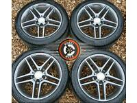 """17"""" Genuine AMG Merc alloys refurb Anthracite/ Red, staggered fitment, excellent matching tyres."""