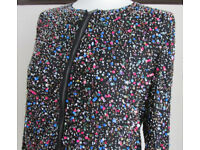 disco diva jacket top. Zara Collection black beaded jacket - See MEASUREEMENTS BELOW