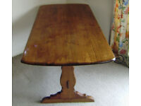 Vintage ERCOL REFECTORY dining table in solid oak. circu 1950's