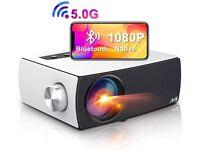 "NEW Artlii Enjoy 3 Portable Projector Native 1080p Wifi Bluetooth 7200 Lumens 300"""