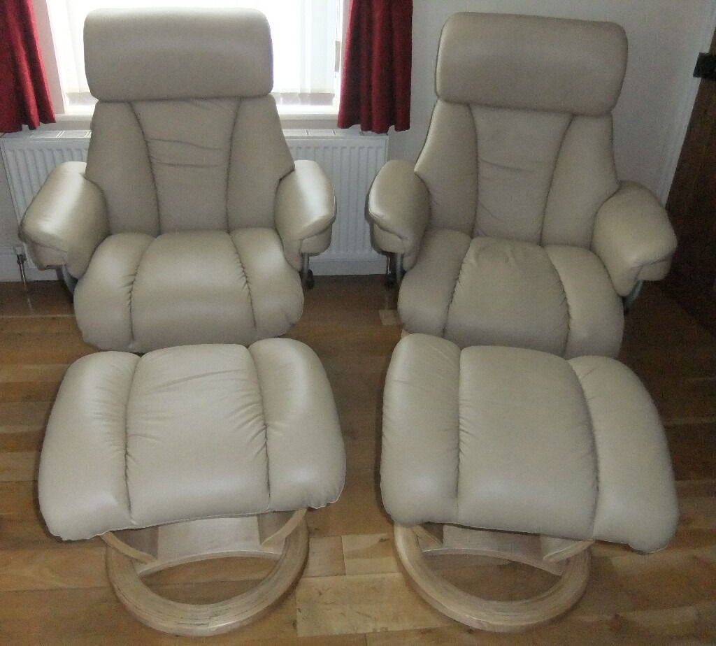 cream italian leather mars design recliner chairs foots