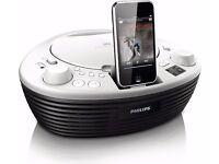 Philips AZD208 ipod/iphone Docking Sound System. White