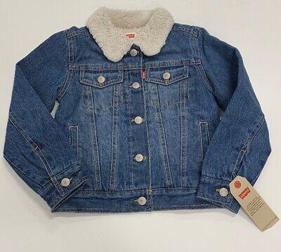 Little Levis - Little Levis Kids Blue Sherpa Lined Denim Jean Trucker Jacket Sz 6 NWT