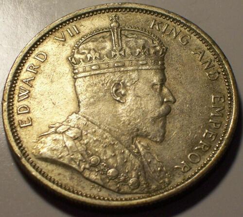 Straits Settlements, 1904 Edward VII Dollar. 20,365,000 Mintage.