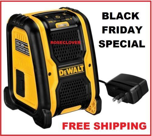 BLACK FRIDAY SPECIAL NEW Dewalt DCR006 Bluetooth Speaker 20V & 12V Cordless