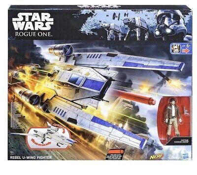 Hasbro Nerf B7101 Star Wars Rogue One Rebel U-Wing Fighter W/nerf Vehicle Toy
