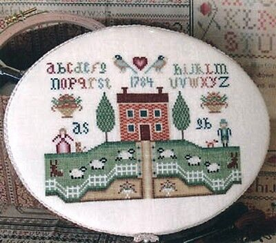 Colonial Cross (COLONIAL HOME SAMPLER-CROSS STITCH CHART- ANNIE BEEZ SAMPLINGS)