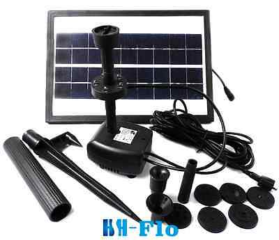 3.6w 250lh Pond Fountain Solar Fountain Water Pump With Battery And Led Light