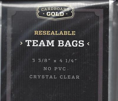 50 ct.  - CARDBOARD GOLD RESEALABLE TEAM BAGS 3 3/8