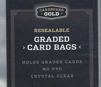 25 ct. - CARDBOARD GOLD RESEALABLE GRADED CARD - TEAM BAGS 3 3/8