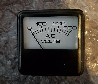 Voltage Meter Part 019860 Rectangle 2.25 Dial Panel Analog Voltmeter 0-300