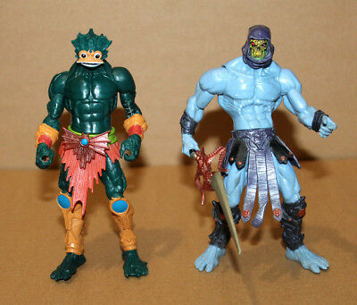 2001 Mattel Masters of the Universe MOTU Mer-Man Merman & Skeletor Figure Figur