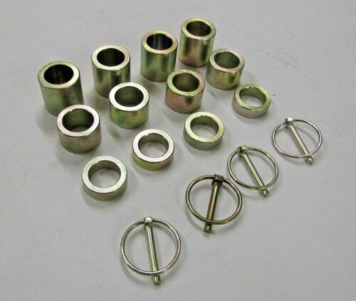 """(4) KING KUTTER or COUNTY LINE 502120 HEIGHT SPACER KIT 1-1/2"""", 1"""", 1/2"""" LOCKPIN"""
