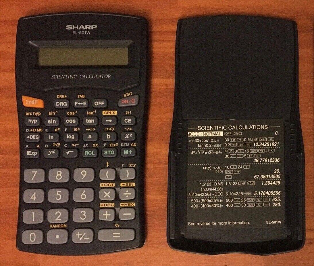 Sharp EL-500W Fraction Scientific Calculator Advanced DAL