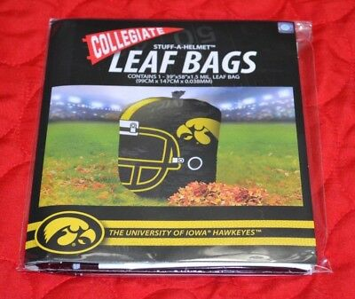 Football Helmet Decorations (NCAA Iowa Hawkeyes Stuff-A-Helmet Football Team Leaf Bag Outdoor)