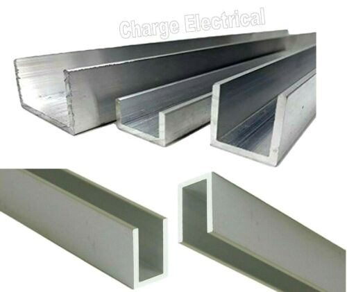 Aluminium U channel. C section. 25 Sizes. 15 Inch lengths Top Quality