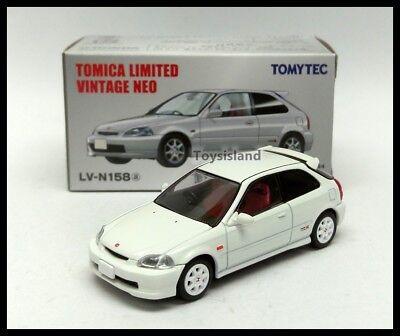 Tomica Limited Vintage NEO LV-N158a Honda Civic Type R 97 White EK9 1/64 Tomytec