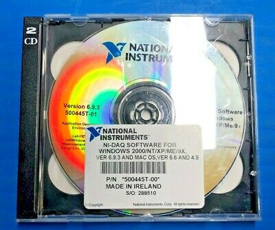 National Instruments 500445t-00 Ni-daq Software For Windows 2000ntxpme9x