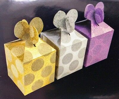 24 Polka Dot Gift BOX Christmas/Wedding Party Favor Gold/Silver/Purple c1](Gold Gift Box)