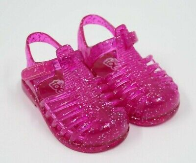Teeny Toes Baby Girl Pink Plastic Fisherman Sandals Shoes Size 3M