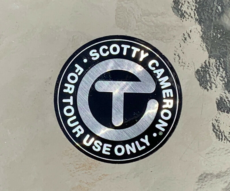 """Scotty Cameron 2021 New Gallery CIRCLE T • FOR TOUR USE ONLY Sticker 2"""" SILVER"""