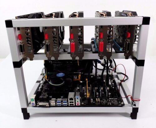 Crypto Coin Mining Rig 5x Gtx1060 95 Mh/s Eth Ethereum 1350 Sol/s Zcash Zec Btc
