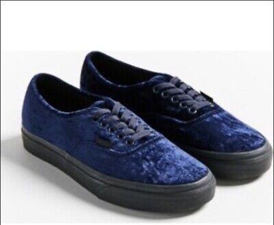 Vans Authentic Navy Blue Velvet Womems Size 5.5