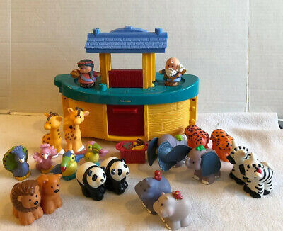 Fisher Price Little People Noahs Ark 9 Pairs Animals Wife Naomi Tool Crate