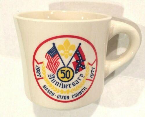 Vintage Boy Scouts BSA Mason-Dixon Council 50th Anniversary Coffee Mug 1927-1977