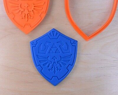 Zelda Link Shield- Cookie Cutter made to order - 3d printed plastic (Shield Cookie Cutter)