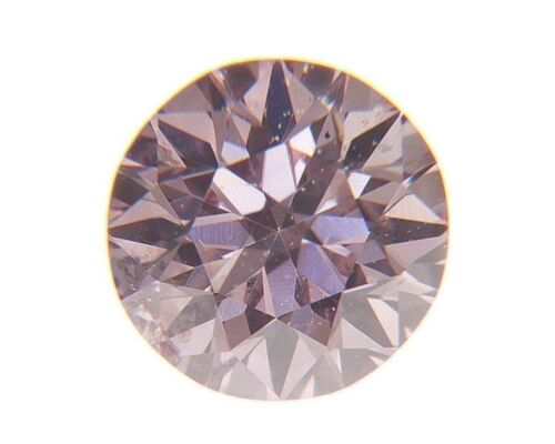 Fancy Pink Natural Loose Diamond 0.10 Cts Round Color GIA