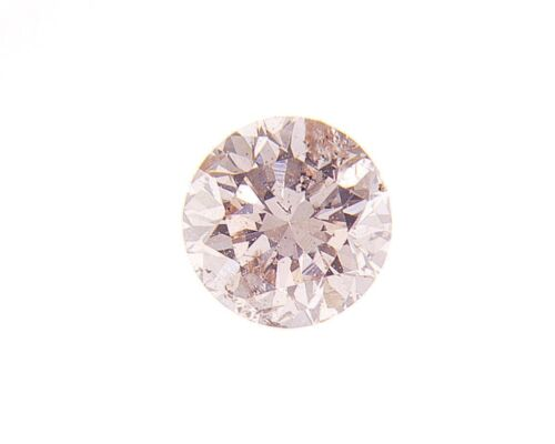 Brilliant Fancy Light Pink Brown Natural Loose Diamond 0.21 Cts Round Color GIA